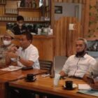 Kepala Kantor Pertanahan Kabupaten Wajo, Syamsuddin, memberikakan sambutan saat jumpa pers, Jumat 24 September 2021 di Cafe Lounge, Jalan Pahlawan Sengkang